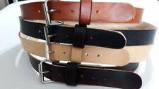 "HEAVY DUTY REAL LEATHER 1.1/2"" W WORK BELT MENS WOMENS WITH S.S ROLLER BUCKLE"
