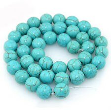 20-100Pcs Natural Turquoise Gemstone Round Spacer Loose Bead Findings 4/6/8/10MM