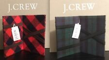 J CREW INSIDE OUT MAGIC WALLET BLACKWATCH TARTAN OR NAVY VERMILLION PLAID  NWT