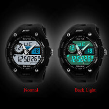 Stopwatch Waterproof Men Analog Military Army Sports Quartz Digital Wrist Watch