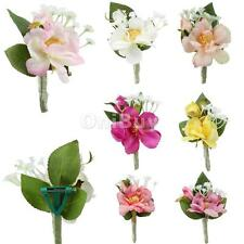 Artificial Wedding Favor Bridal Groom Boutonniere Corsage Flower Brooch Pin