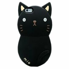 3D Cute Cat Cartoon Design Silicone Protective Case Cover for Iphone 5s/6s plus