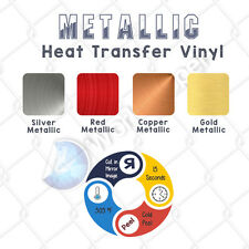 "Siser NA  METALLIC Heat Transfer Vinyl for T Shirts  20"" x 10 FT :)"