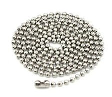 Lots 2/5/10Pcs Silver Plated Metal Ball Bead Chain Necklace Jewelry Making 2.0MM