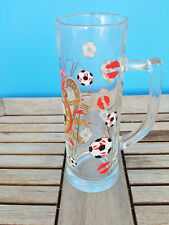 Ritzenhoff Beer Mug  Soccer Balls Lips Clock It's Time to Celebrate SANLADERER