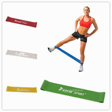 Tension Resistance Band Exercise Loop F/ Sport GYM Fitness Yoga Pilates 5-Levels