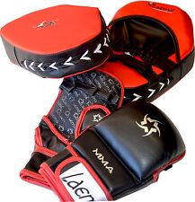 MMA BOXING BootCamp Training Combo Pads Mitts Grappling Sparring Gloves UFC GYM