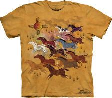 Horses & Sun The Mountain Adult Size T-Shirt