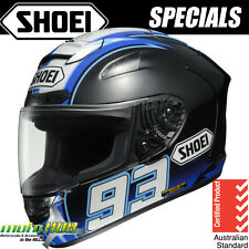 Shoei X-TWELVE X-12 Montmelo Marquez TC-2 Blue Helmet Motorcycle Race RRP $1099