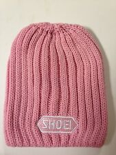 SHOEI PINK LADIES BEANIE HAT WITH EMBROIDED LOGO