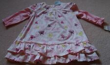 LAURA ASHLEY Sweet Baby Girls Sz 6m Ivory Butterfly Ruffle Dress NWT $79.95