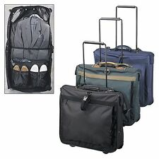 Wheeled Rolling Travel Garment Bag Luggage -  A8539 (Black, Navy and Green)