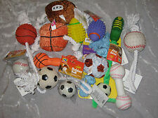 Sports Dog Toys Football Soccer Baseball Basketball Fun Exercise Play NEW!