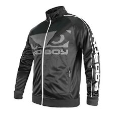 Bad Boy Mens Black All Round Sports Polyester Jacket Track Suit Top MMA Zip up