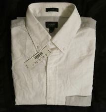 NWT J.Crew Men's Slim Vintage Oxford Shirt Colorblock Hthr Grey White SZ XS,S,XL