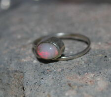 Natural Welo Ethiopian Fire Opal 925 Sterling Silver Wholesale Ring Jewelry