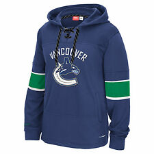 Vancouver Canucks Men's Reebok Edge Team Hooded Sweatshirt Blue