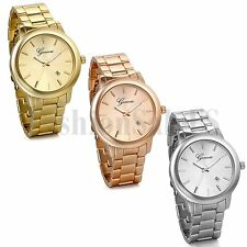 Luxury Men's Women's Stainless Steel Dial Analog Quartz Bracelet  Wrist Watch