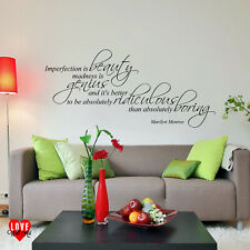Marilyn Monroe quote Imperfection is beauty wall art sticker
