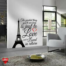 The greatest thing you'll ever learn Moulin Rouge quote Eiffel Tower wall art