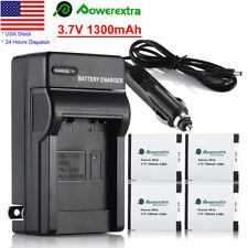 NB-6LH NB-6L Battery + Charger For Canon Powershot D10 S95 S90 SD1300 SX500 IS