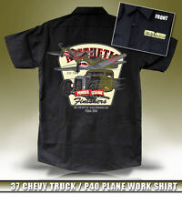 1937 37 Chevy Truck / P-40 Plane Hot Rod Workshirt By Aesthetic Finishers