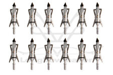 Outdoor Sports Silver Hypodermic Broadheads 2Blade 100 Grain Chisel Arrows Tips