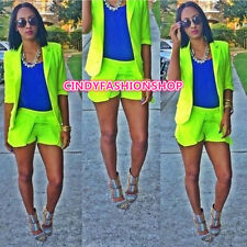 New Women Sexy 2PC Half Sleeve Casual Short Pants Suit Jumpsuit Rompers