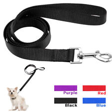"""Nylon Pet Dog Leash Leads 48"""" Length Soft Durable for Small Dogs Walking 4 Sizes"""