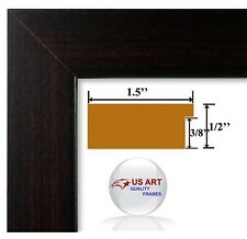 Columbian Coffee Dark Brown Picture Poster Photo FRAME  Wood Composite 8 in WIDE