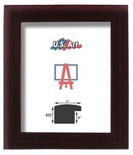 """1"""" Nugget Cherry Maroon Solid Poplar Hardwood picture poster frame-16 inch wide"""