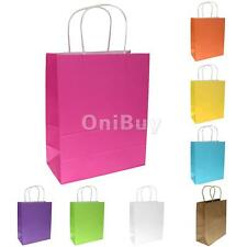 10x Kraft Paper Party Gift Bags Wedding Favour Loot Shopping Carrier Retail Bag
