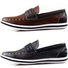 New Polytec Classic Basic Men Fashion Loafer Slip on Casual Sneakers Dress Shoes