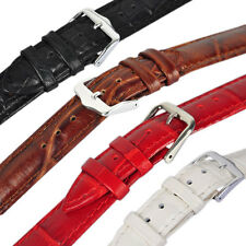 Black High Quality Mens Ladies Genuine Soft Leather Watch Band Strap 12mm-24mm