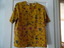 LADIES KATHIE LEE SHORT SLEEVE POLYESTER TOP, MULTI COLOR SIZE .
