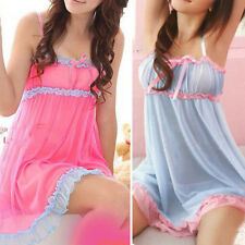 Sleepwear Sexy Lingerie G-String Underwear Babydoll Women Nightwear Lace Dress