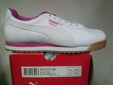 PUMA WOMENS ROMA LT 342313 04 LEATHER WHITE / MAGENTA GUM WOMEN`S SIZE