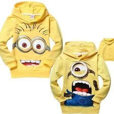 HOT Minions Yellow Kids Boys Girls Despicable Me Hoodie Hoody Unisex Jumper Gift