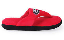 Happy Feet Mens and Womens Georgia Bulldogs Comfy Flop Slippers