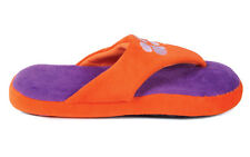 Happy Feet Men and Womens Clemson Tigers Comfy Flop Slippers