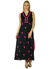 Bimba Women Rayon Long Dress Ethnic Hand Embroidered Chic Maxi Gown
