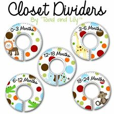 CLOSET DIVIDERS Polka Dots Jungle Bedroom Nursery Art Decor CD0029