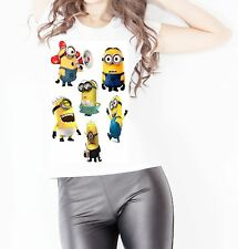 Collection of Minions Women T shirt Vest Top Summer Design Casual Present Funny