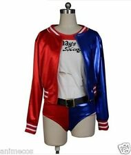 Suicide Squad Harley Quinn Cosplay Halloween Costume Jacket Only( without studs)