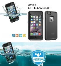 Black LifeProof Fre Shock Dust WaterProof Tough Case Cover for iPhone 6S 6 4.7""