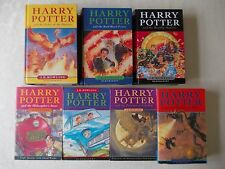 full set harry potter bloomsbury books hardback & paperback