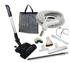 30' or 35' Deluxe Central Vacuum Kit w/Hose, Power Head & Tools For Royal