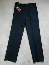 "M&S Navy Wool Blend Supercrease Active Waist Formal Trouser (NEW)-W:32"" L 33"""