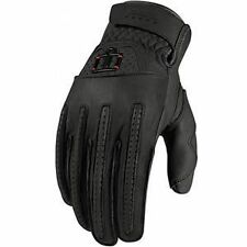 NEW ICON MENS ONE THOUSAND RIMFIRE BLACK STREETBIKE MOTORCYCLE RIDING GLOVES