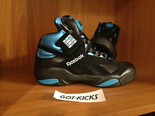 REEBOK SHAQ ATTAQ ORLANDO MAGIC BLACK BLUE AZURE SZ 7.5-9 V55083 SHAQ ATTACK